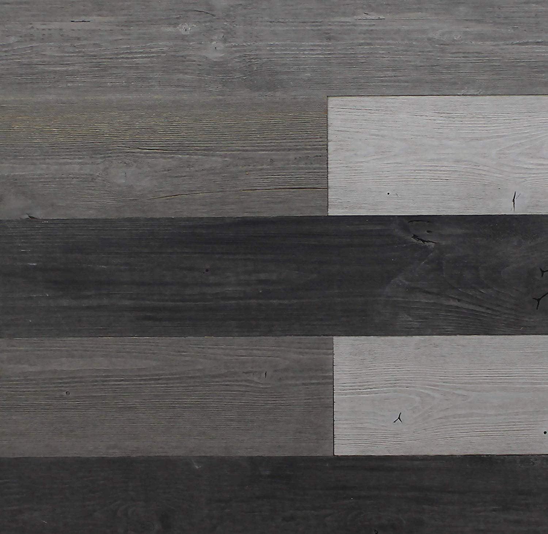 Self Adhesive Wall Panels Reclaimed Weathered Wood Wall Planks Peel Stick Rustic Reclaimed Barn Wood Paneling Walmart Com Walmart Com