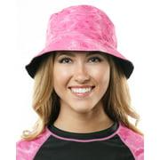Aqua Design Womens SunGuard UPF 50+ Reversible Bucket Ladies Rain Hat