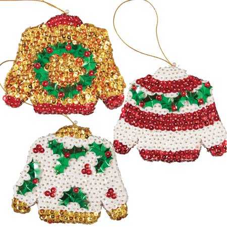 Sunrise Craft & Hobby™ Christmas Sweaters Ornament - Christmas Ornament Craft