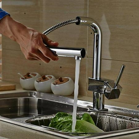 auralum modern commercial kitchen faucet brass pull down spring 90 ...