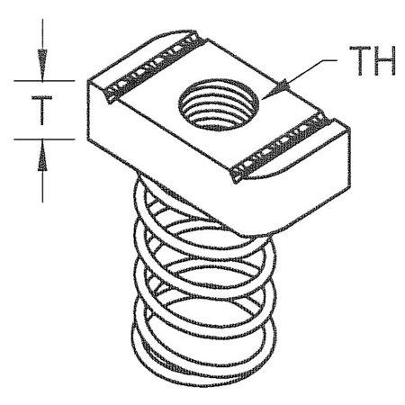 Channel Nut Regular Spring 1/4in.-20
