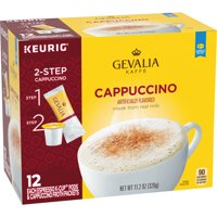 Gevalia Cappuccino K Cup Espresso Pods with Cappuccino Froth Packets, Caffeinated, 12 ct - 11.28 oz Box