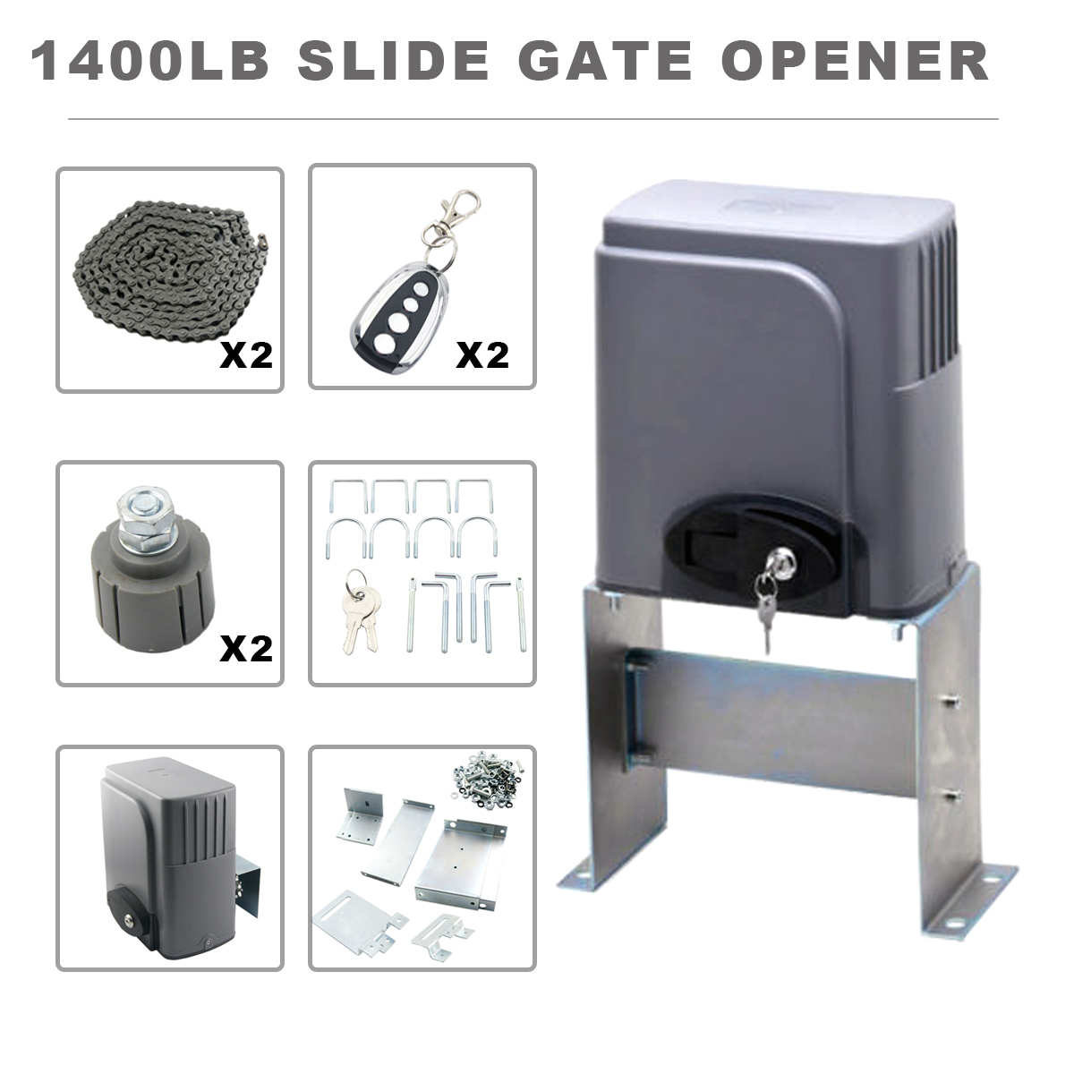 Automatic Sliding Gate Opener with Remotes