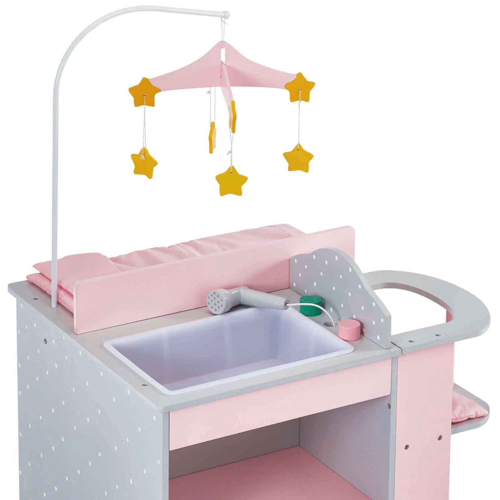 Attrayant Oliviau0027s Little World   Polka Dots Princess Baby Doll Changing Station    Grey   Walmart.com