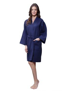 Product Image Lightweight Cotton Blend Women Waffle Kimono Spa Robe  (Small Medium ef9fc980f