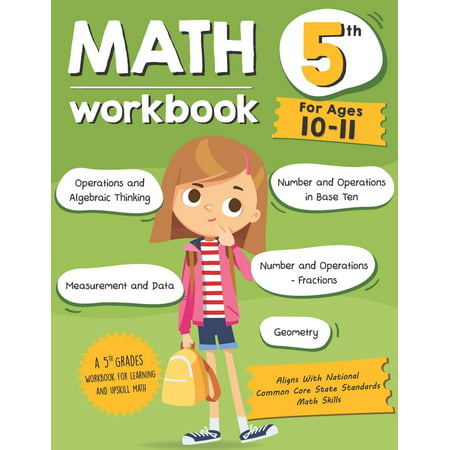 Math Workbook Grade 5 (Ages 10-11): A 5th Grade Math Workbook For Learning Aligns With National Common Core Math Skills (Paperback) - Halloween Math Problems 5th Grade