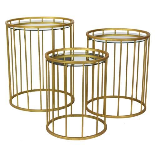 Aspire Home Accents Solange Gold Accent Tables - Set of 3