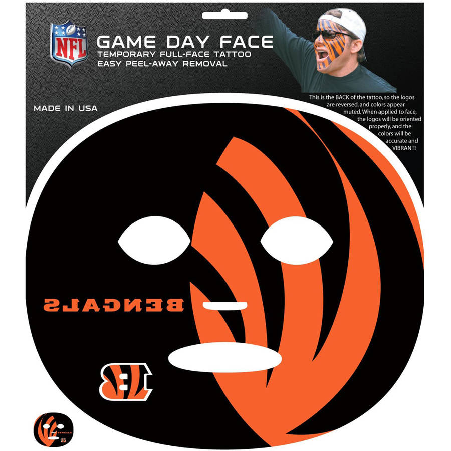 NFL Cincinnati Bengals Game Day Face Temporary Tattoo FGFD010
