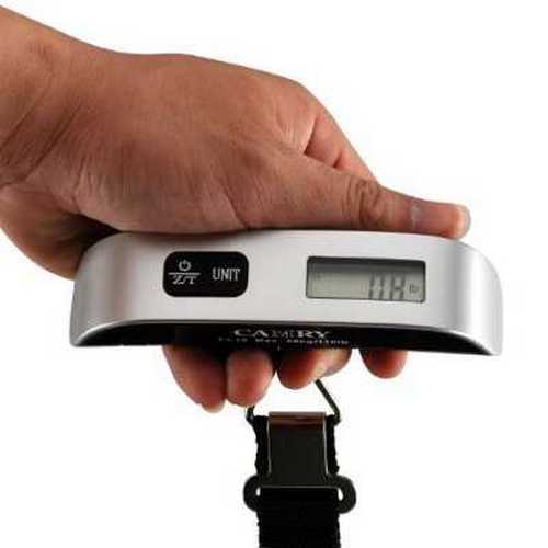 Camry 110 Lbs Luggage Scale with Temperature Sensor and Tare Function Without Backlight Gift For Traveler,... by