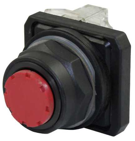 Non-Illuminated Push Button,Plastic,Red