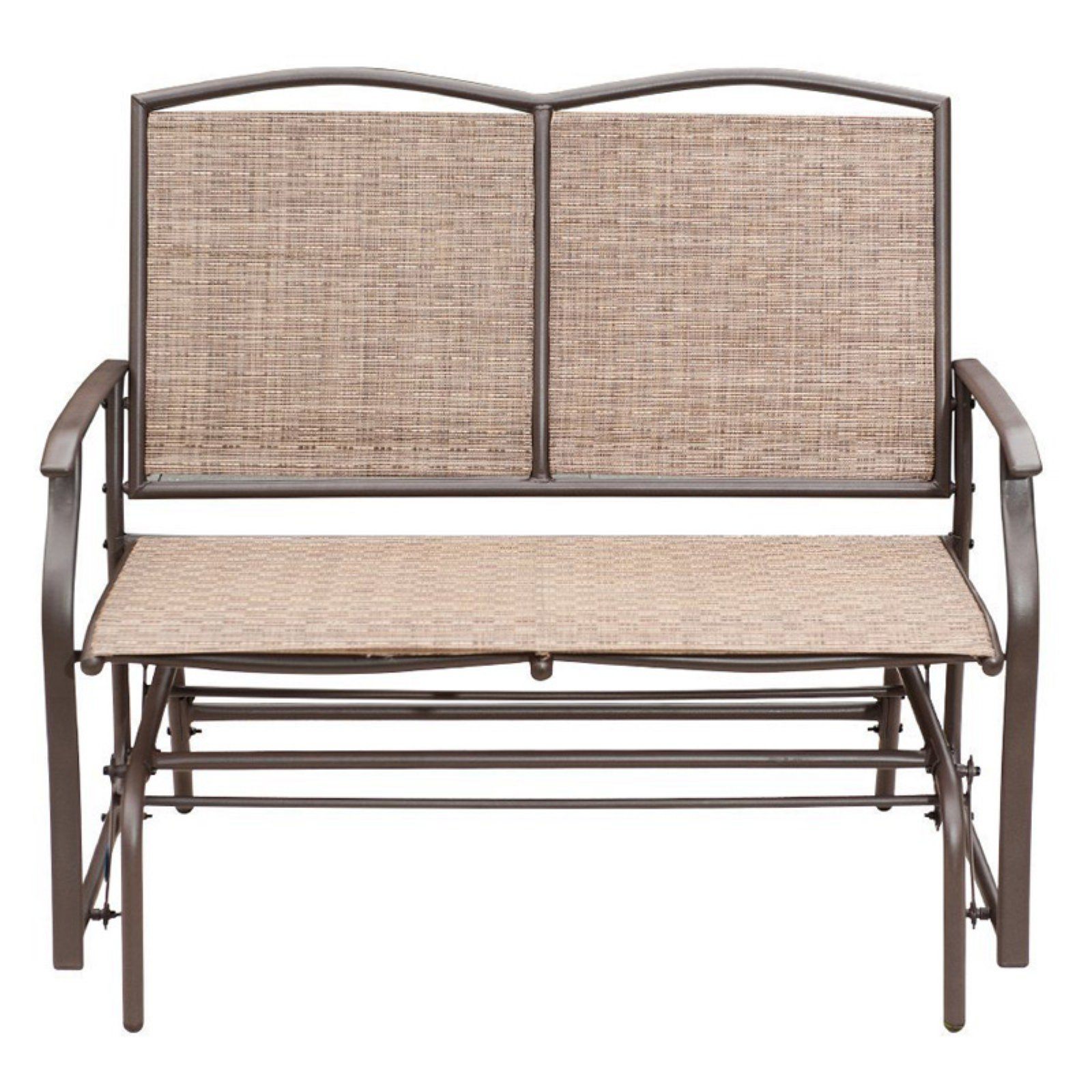 SunLife 2 Person Rattan Loveseat Patio Glider Bench