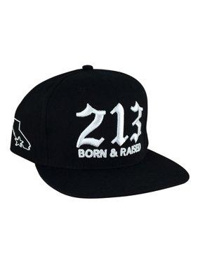 504de80d Product Image Cali 213 Born & Raised High Crown Snapback Hat Cap by CapRobot  - Black White