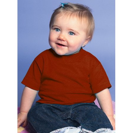 (Price/each)Rabbit Skins 3401 Infant T-Shirt-Garnet-18M