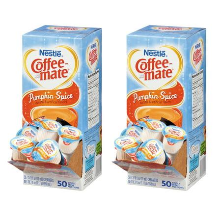 Dark 50 Ct Box - (2 Pack) Nestle®Coffee-mate Pumpkin Spice Liquid Coffee Creamer 50 ct Box