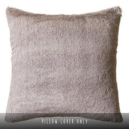 Rabbit Fur Colors (Faux Fur Throw Pillow 18