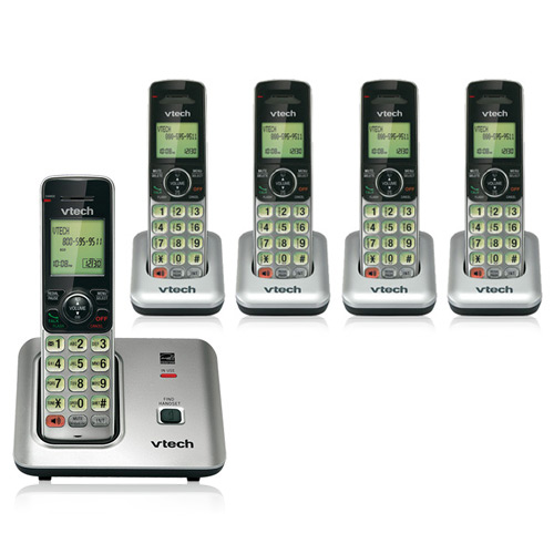 Vtech CS6619 Cordless Base Phone with CS6609-4 Extra Handsets & Chargers