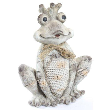 Sitting Frog Rope Statuary