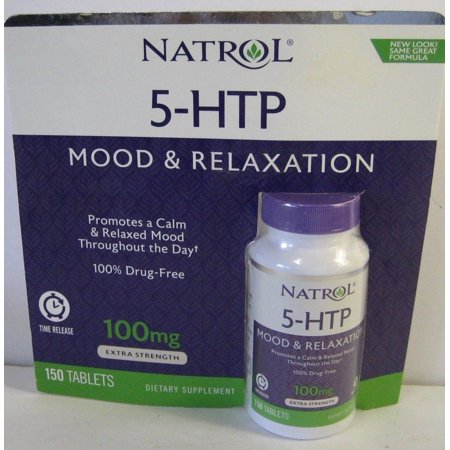 Natrol 5-HTP Mood Enhancer 150 Tablets 100 MG 12 Hour Time Release Formula