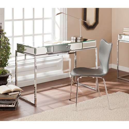 Stassi Mirrored Writing Desk With Drawer