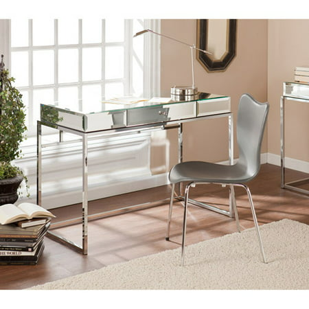 Stassi Mirrored Writing Desk with Drawer, - Halloween Mirror Writing