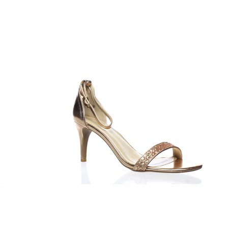 DREAM PAIRS Womens Jenner Champagne Ankle Strap Heels Size