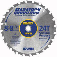 "Irwin Marathon 14050ZR 8"" 24T Marathon Miter and Table Saw Blades"