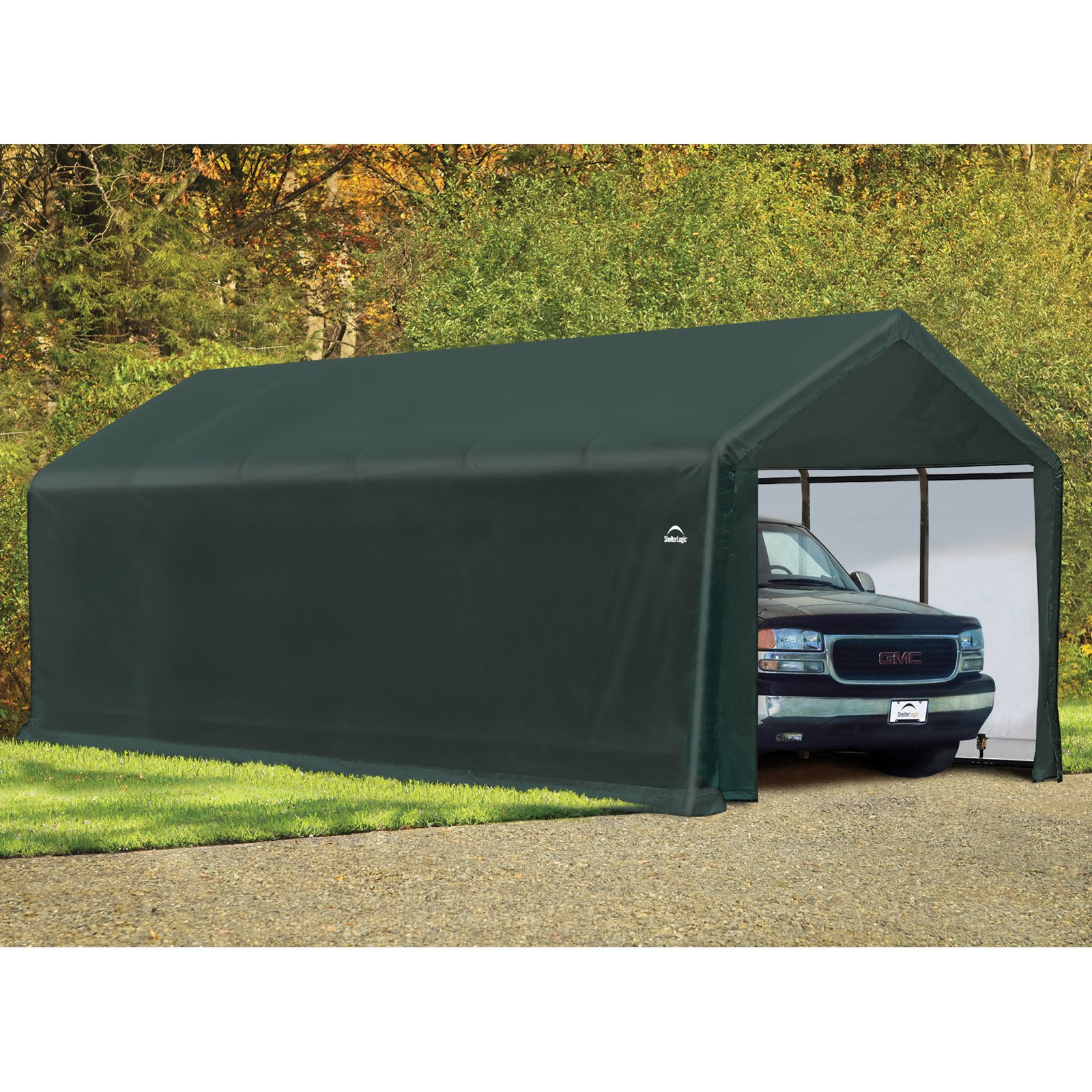 ShelterTube 12' x 30' x 11' Peak Style Garage/Shelter, Green