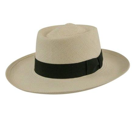 Pantropic - Pantropic Mens Trinidad Panama Boater Hat - Walmart.com 1ae675ceba37
