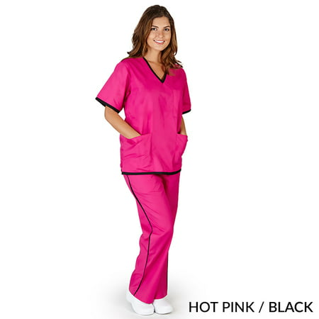 NATURAL UNIFORMS - FREE SHIPPING UNISEX CONTRAST SCRUB SET