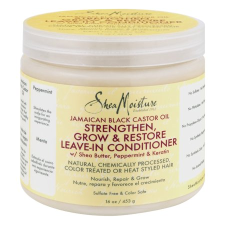 Shea Moisture Jamaican Black Castor Oil Strengthen  Grow   Restore Leave In Conditioner  16 0 Oz