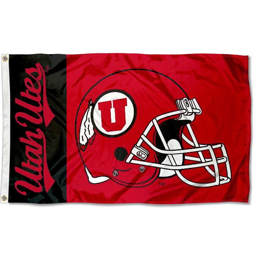 Utah Utes Football Helmet 3' x 5' Pole Flag