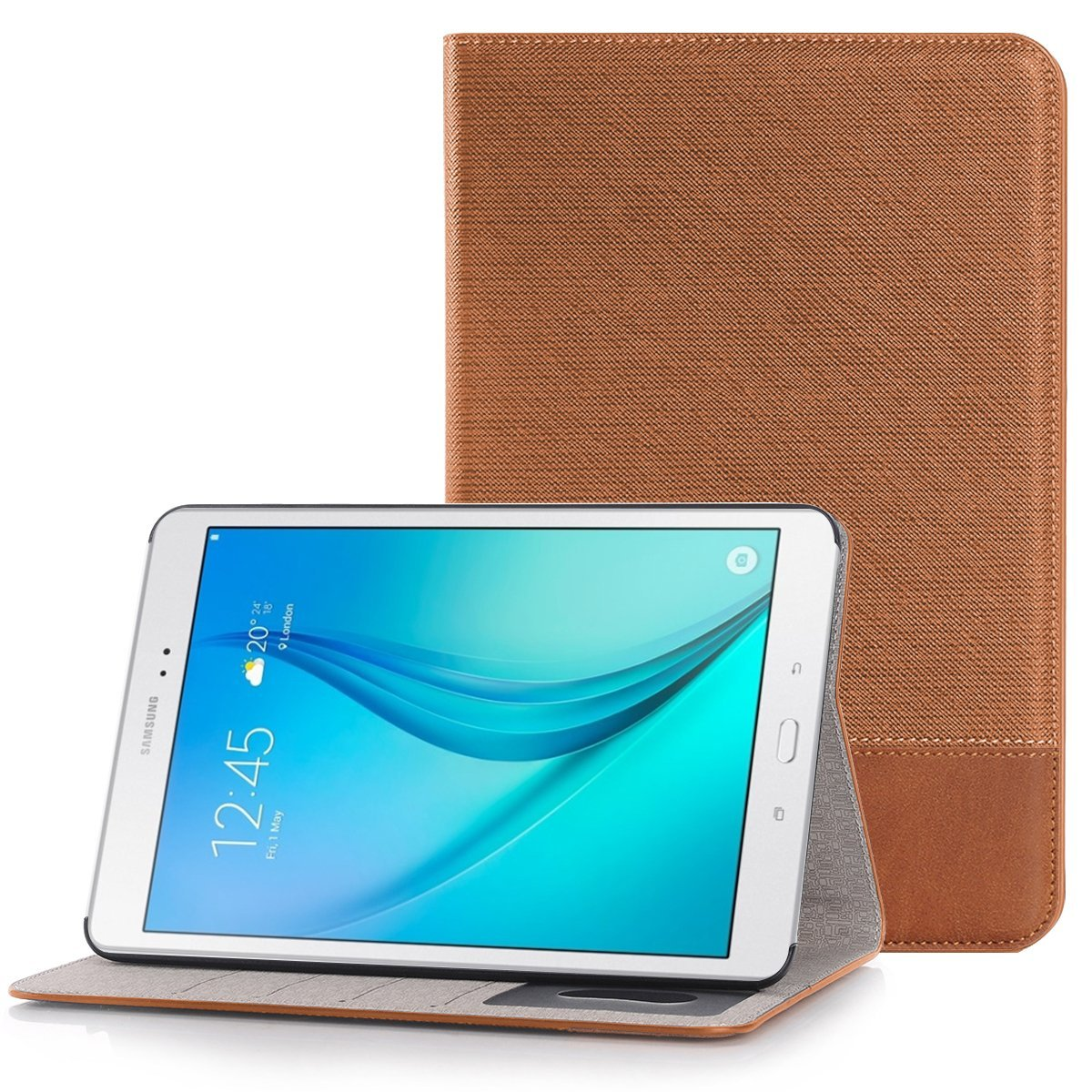 Mignova Samsung Galaxy Tab A 9.7 folio Case - , Kickstand ,Card Pocket Folio Leather Case Cover for Galaxy Tab A Tablet 9.7 inch, SM-T550 P550 (Galaxy Tab A 9.7 (T550) (Brown)