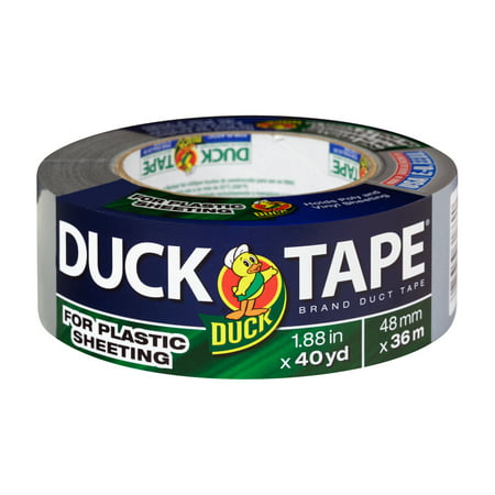 Duck Brand Duct Tape For Plastic Sheeting Silver 1 88 In