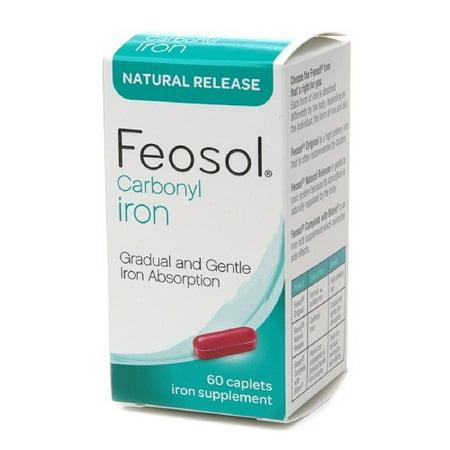 Feosol carbonyl iron, natural release, caplets, 60 ea