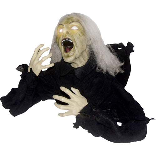 2.2' Groundbreaker Head Turning Witch Halloween Decoration