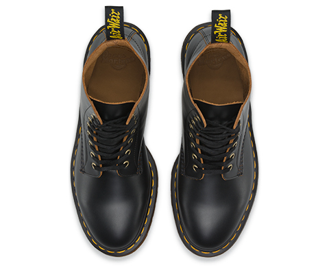 Dr. Martens Pascal Black Vintage Smooth Lace Up Combat Leather Ankle Boots (12)