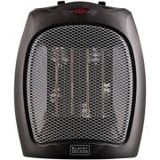 Black+Decker Portable Ceramic Space Heater in Black
