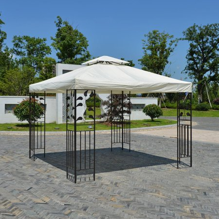 Hot Sale 10*10 Feet Gazebo Top Tent Cover Patio Canopy Roof Double-layer Against