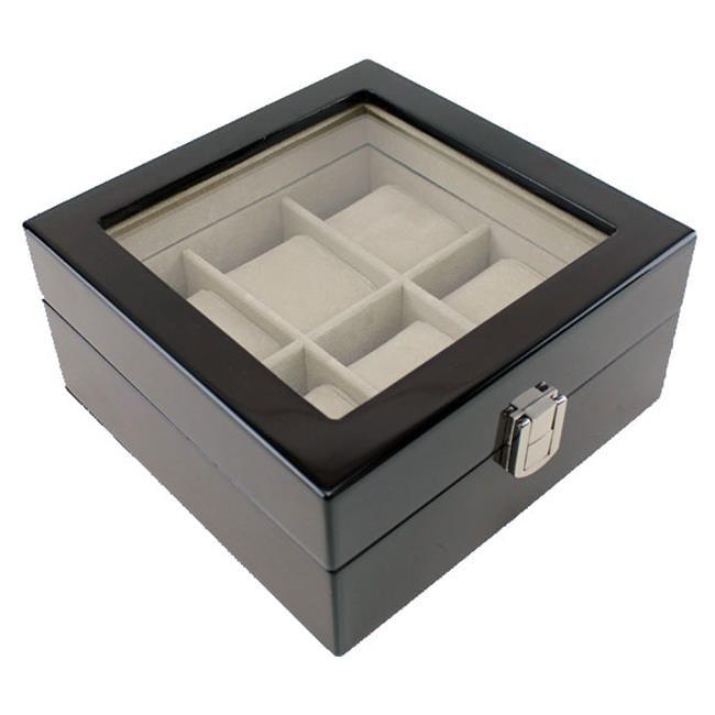 JP Commerce hdbox001-espresso Heiden Premier Espresso Watch Box - 6 Watches