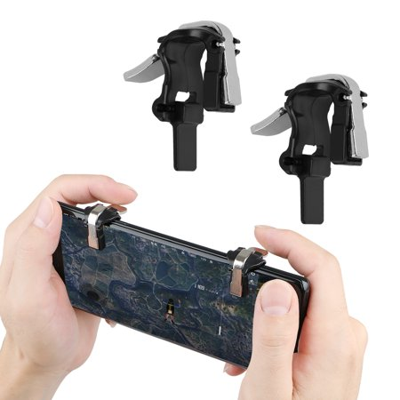 Mobile Game Controller Cell Phone Game Controller Trigger, Shoot Fire Button Aim Key Shooter Controller for PUBG, Rules, Survive Game