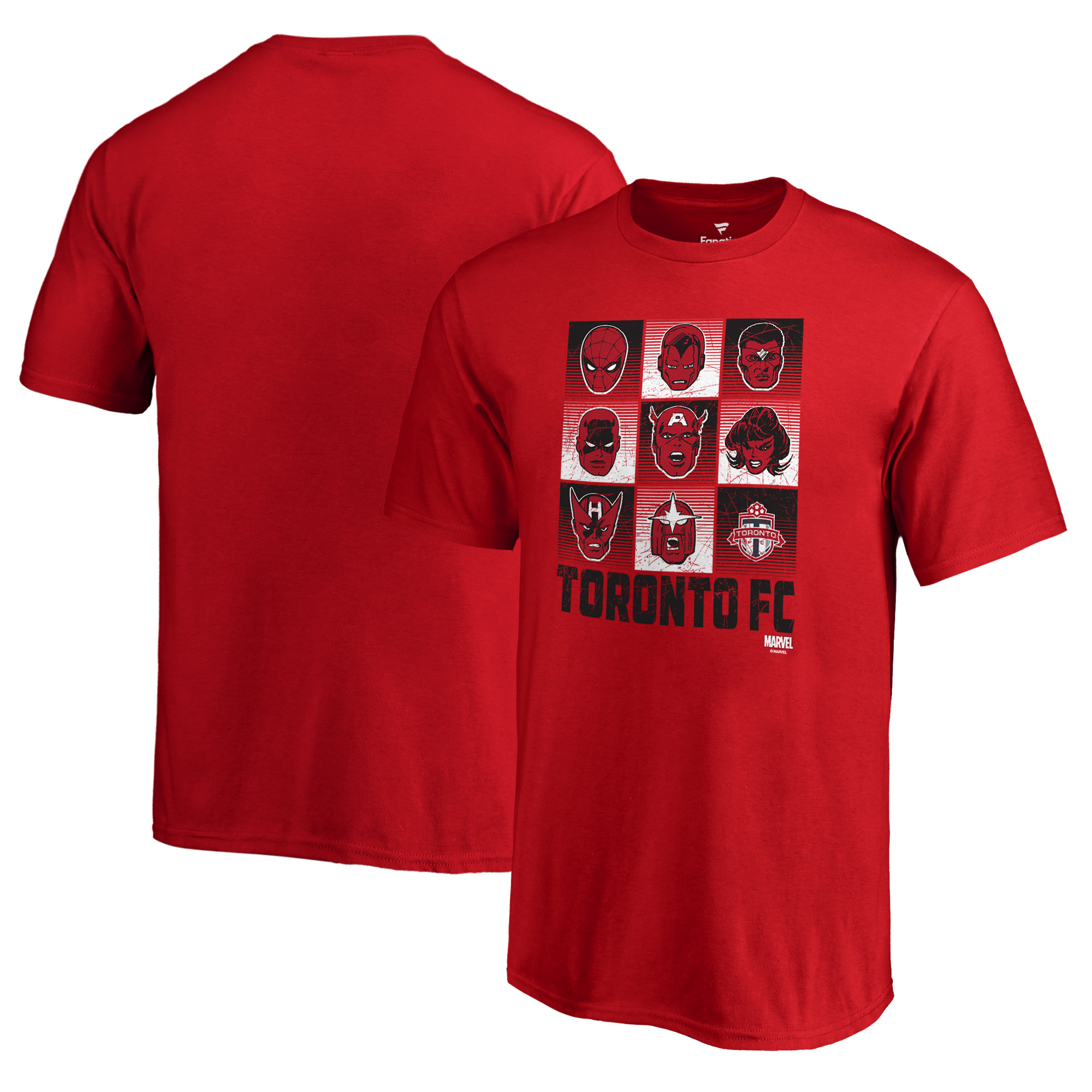 Toronto FC Fanatics Branded Youth Marvel Hall of Heroes T-Shirt - Red
