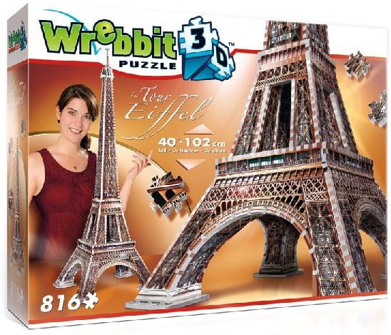 Wrebbit 3D: Eiffel Tower, France Foam Puzzle (916pcs) by