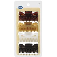 4 Count Goody Classics Medium Claw Clip, Assorted Colors