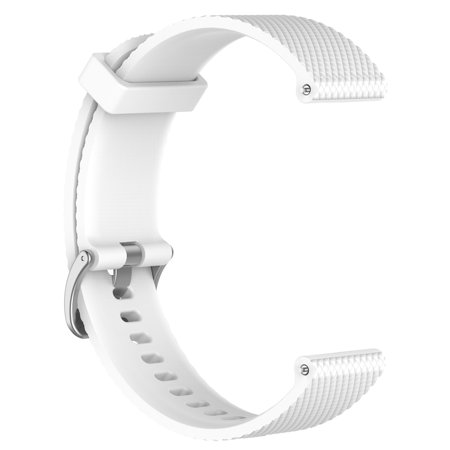 Watch Band, Silicone Replacement Watch Band Wrist Strap 22MM for Samsung Galaxy Watch 46MM SM-R800 Smart Watch, White