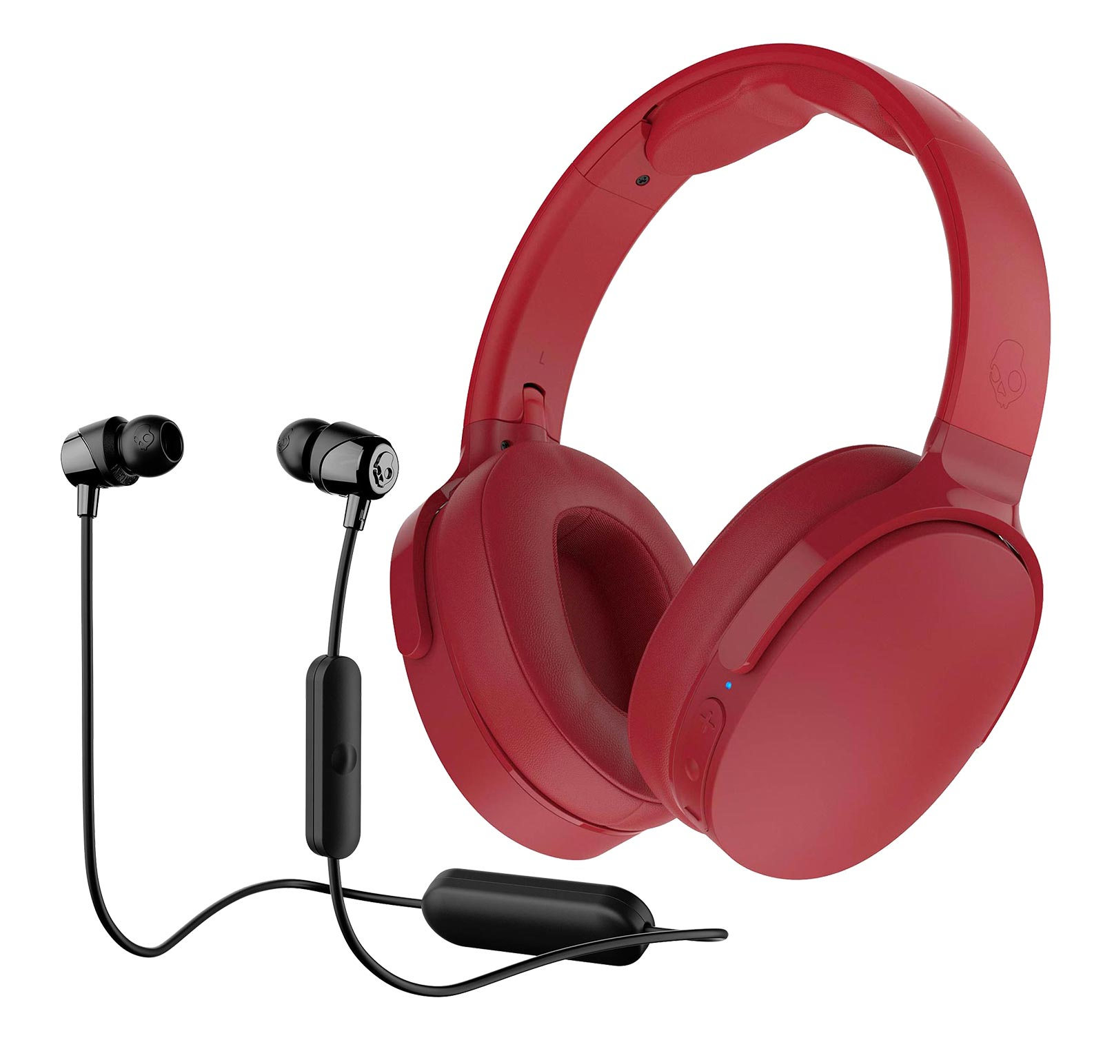 Skullcandy HESH 3 Wireless Red w/ JIB Wireless Black Headphones