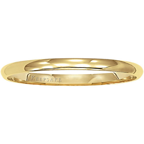 Keepsake 14kt Yellow Gold Wedding Band, 2mm by Frederick Goldman Inc.