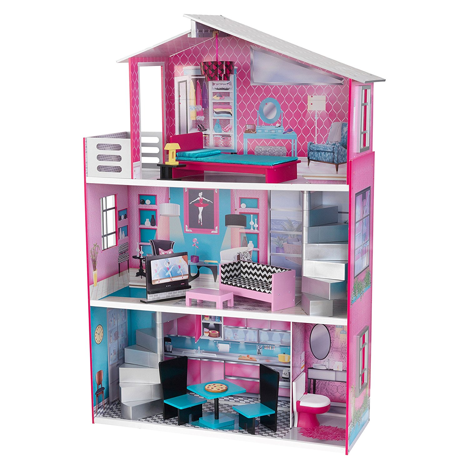KidKraft Breanna 18-In Dollhouse with 12 accessories included by KidKraft