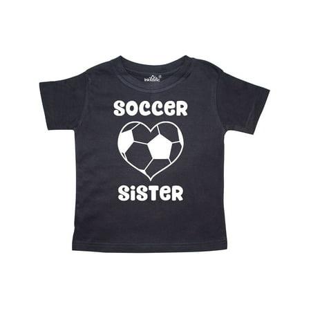 8303c046cd287 Heart Soccer Sister Toddler T-Shirt