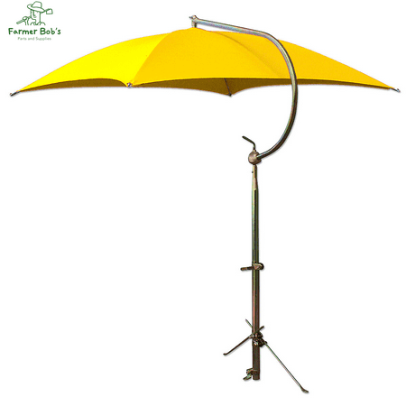 TU56 - Umbrella Yellow w/ Frame & Mounting Bracket Canvas Farmer Bob's Parts 405457