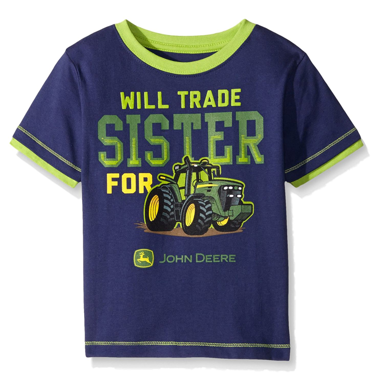 John Deere Toddler Boys Will Trade Sister For Tractor T Shirt 2t